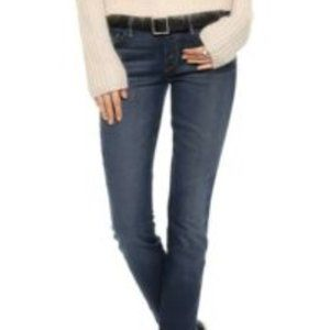MOTHER The Vamp Split Ankle Skinny Jeans, …